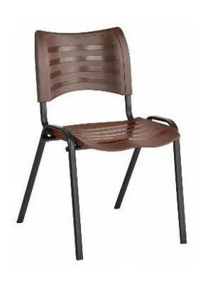 Cadeira Plast Marrom Empilhavel