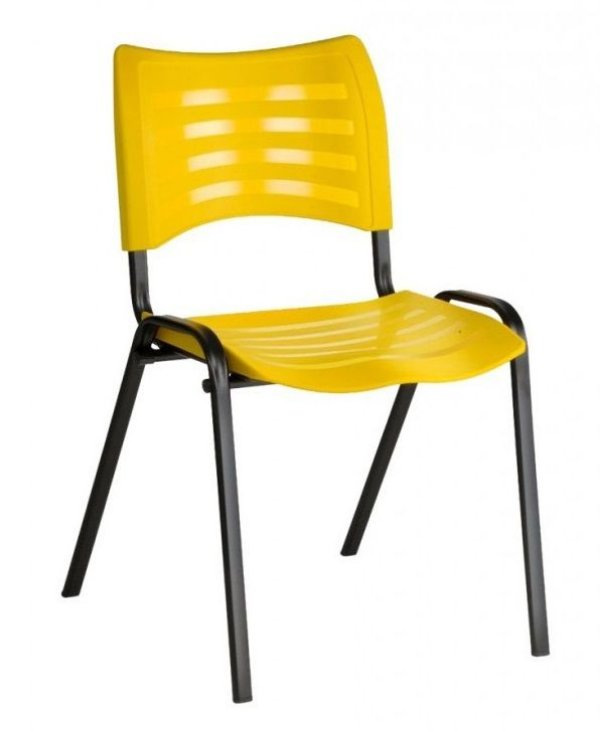 Cadeira Plast Amarela Empilhavel