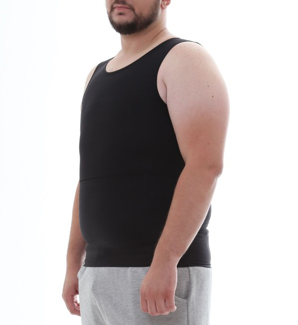 Cinta Modeladora e Postural Masculina Shapewear - Preto - Slim Fitness