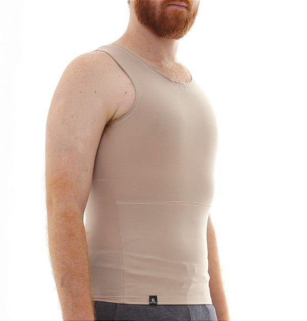 Cinta Modeladora e Postural Masculina Shapewear - Bege - Slim Fitness