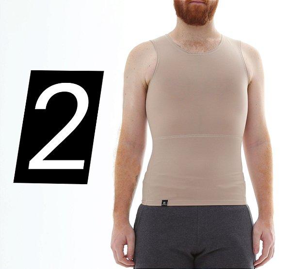 Kit com 2 Cintas Modeladoras e Postural Masculina Shapewear - Escolha a Cor - Slim Fitness