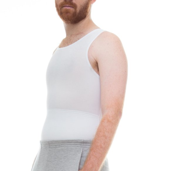 Cinta Modeladora e Postural Masculina Light Compression Bodyshaper - Branco - Slim Fitness