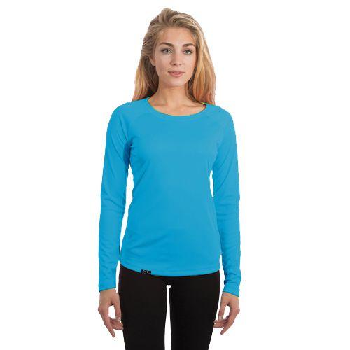 Camiseta Feminina Proteção Solar UV50+ Manga Longa – Azul Turquesa – Slim Fitness
