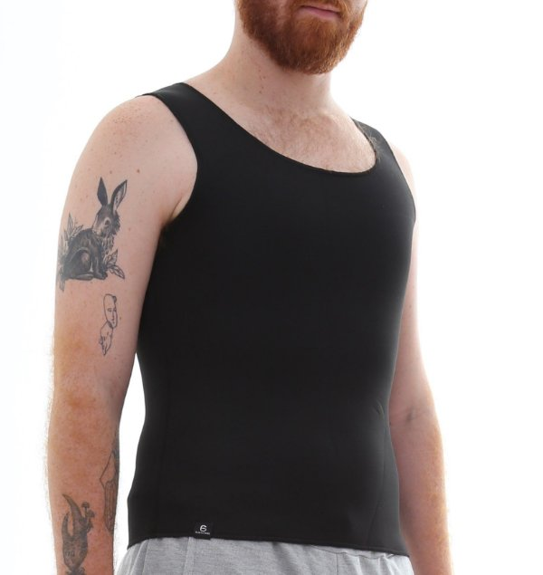 Cinta Térmica Sweat Drops Masculina - Preto - Slim Fitness