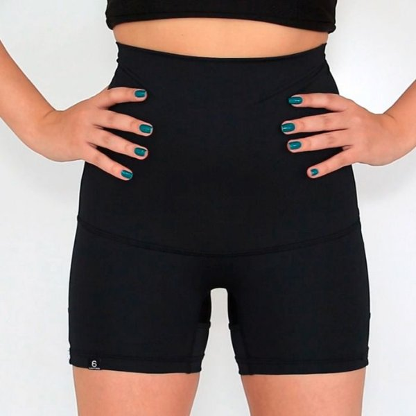 Shorts Cintura Alta  Slim Fit Cinta Modeladora