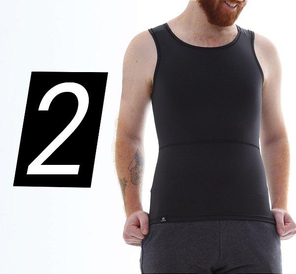 Kit com 2 Cintas Modeladoras e Postural Masculina Body Shaper- cores - Slim Fitness