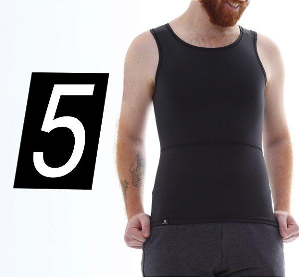 Kit com 5 Cintas Modeladoras e Postural Masculina Body Shaper - cores - Slim Fitness