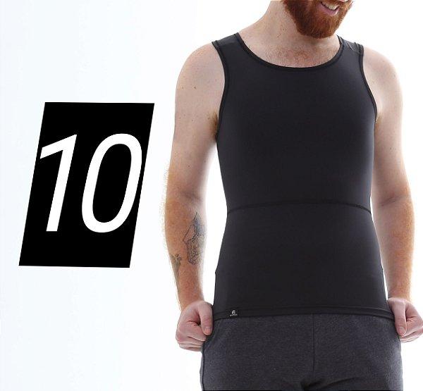 Kit com 10 Cintas Modeladoras e Postural Masculina Body Shaper - cores - Slim Fitness