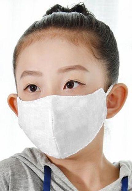Kit com 05 Máscaras Infantis Reutilizável Máxima Proteção Anti-Vírus - Branca - Slim Fitness