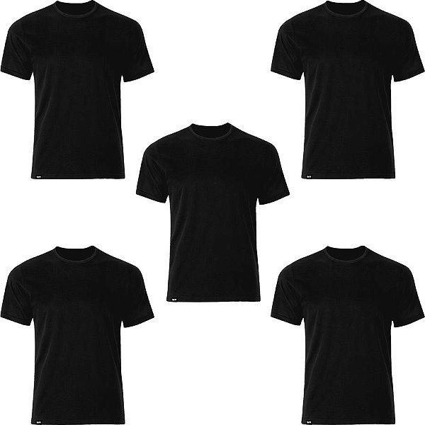 Kit com 05 Camisetas T-Shirt Antiviral - Slim Fitness