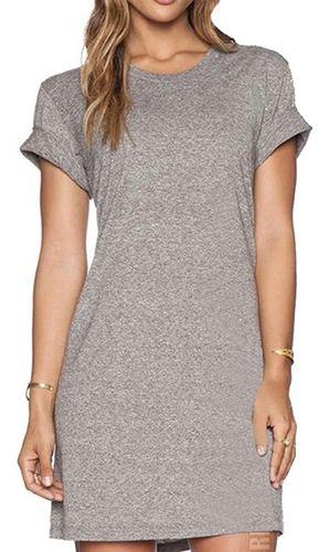 Vestido Feminino Estilo Camiseta Fashion - Slim Fitness