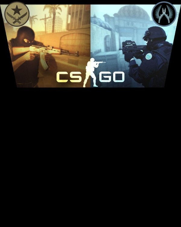 CAMISETA CSGO COUNTER-STRIKE TERRORISTAS VS CONTRA-TERRORISTAS
