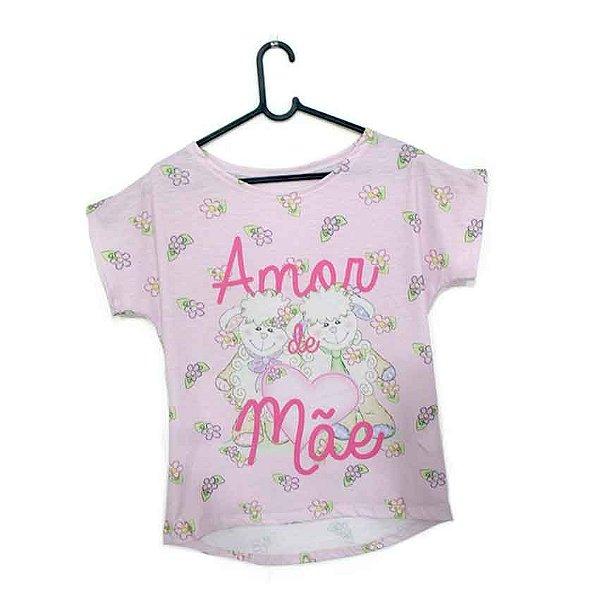 T-Shirt - Vestido, Adulto - Infantil - Feminino - Tal Mãe Tal Filha Cód. 5148