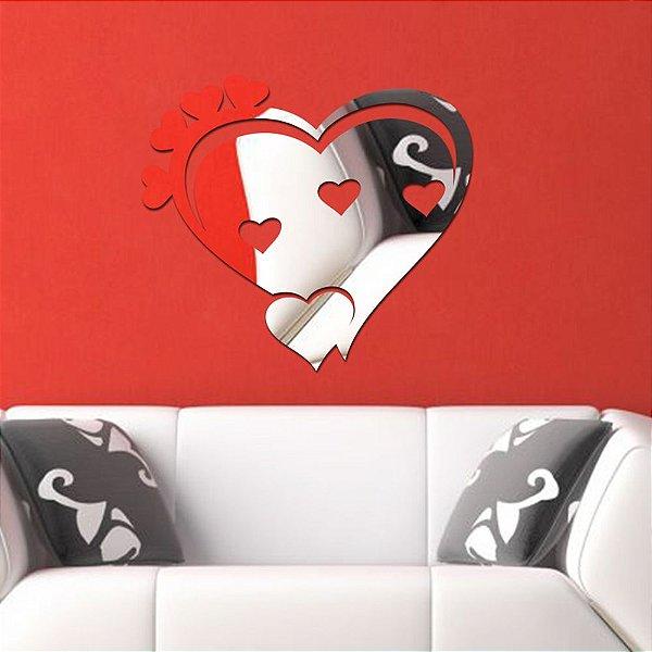 Espelho Acrílico Coração