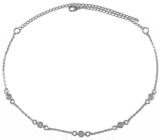 Colar Choker de Tiffany - Banho de Ródio
