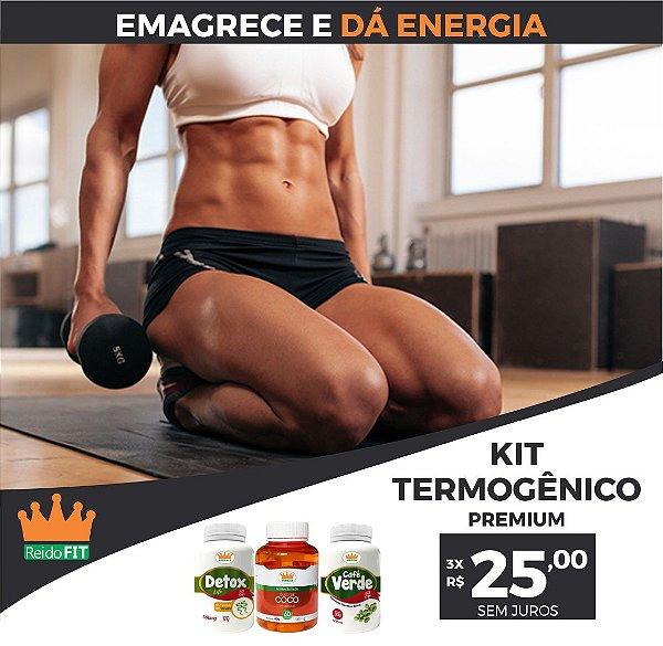 Kit Emagrecedor Termogênico Premium® Detox Life + Café Verde + Coco - Emagrece e dá Energia - 3 Potes c/ 180 Cápsulas 🔥