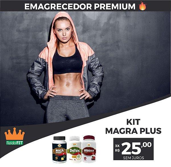 Kit Emagrecedor Magra Plus® Detox Life + Maca Peruana + Hibisco - Emagrece e Tonifica o Corpo - 180 Cápsulas  🔥