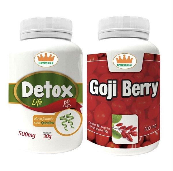 Emagrecedor Premium® - Detox Life 500mg + Goji Berry 500mg c/ 120 Cápsulas