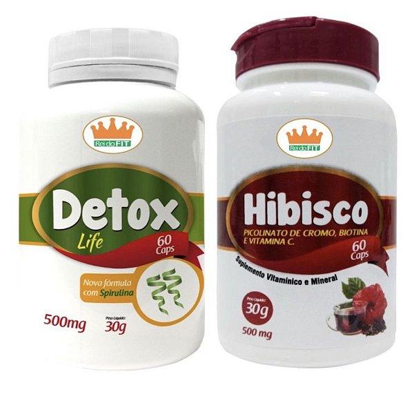 Emagrecedor Premium® - Detox Life 500mg + Hibisco Completo 500mg c/ 120 Cápsulas