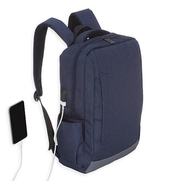 Mochila de nylon com compartimento principal com bolso para notebook  de Nylon USB