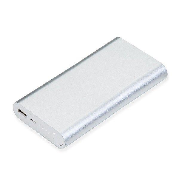 Power Bank metálico com indicador led de bateria