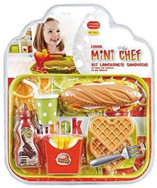 Kit Lanchonete Sanduíche Mini Chef - Xalingo