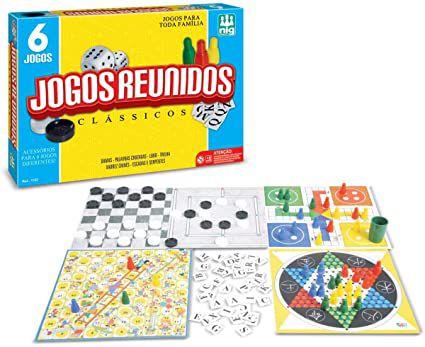 Nig Brinquedos Jogo Reunidos Clássicos 6 em 1
