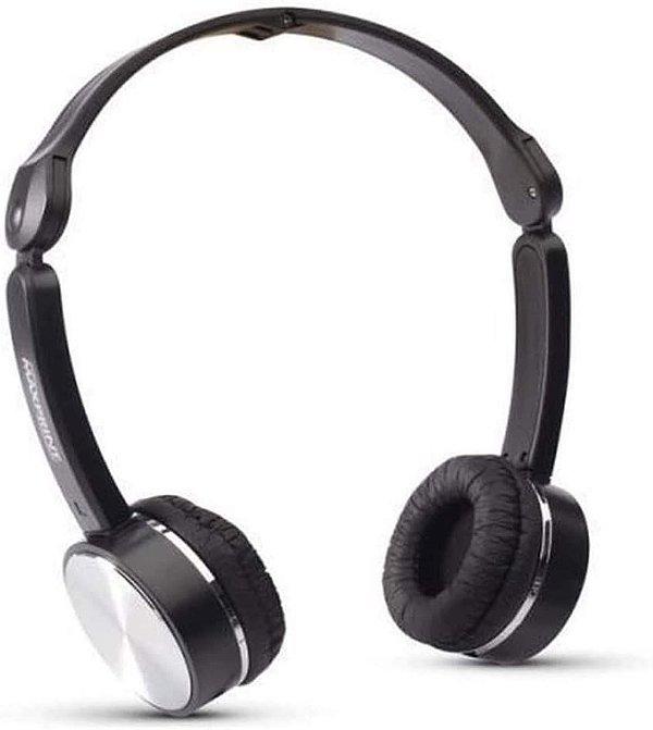 Fone de Ouvido Dobrável,  Maxprint,  607995,  Microfones e Fones de Ouvido,  Preto com Alumínio