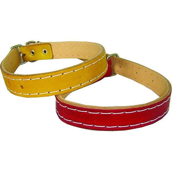 Coleira Couro Para Cachorro No 5 - 49cm X 22mm