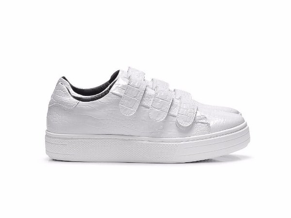 TENIS FIFTH 4706 - CROCO BRANCO