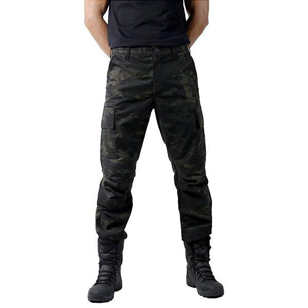 Calça Masculina Combat Multicam Black Bélica