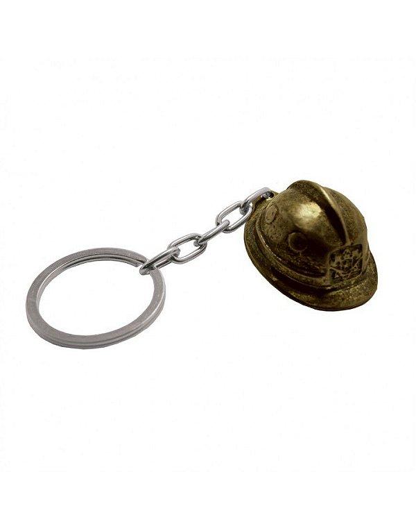 Chaveiro Capacete Bombeiro - Dourado
