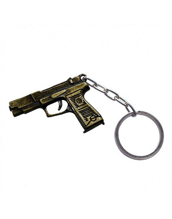 Chaveiro Pistola - Dourado