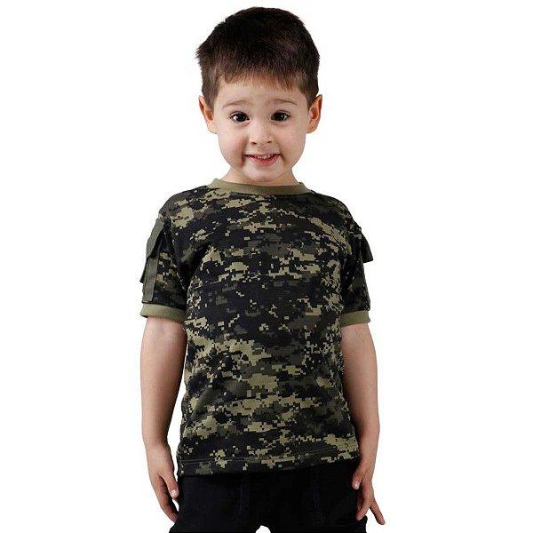 Camiseta T Shirt Ranger Infantil Digital Pântano