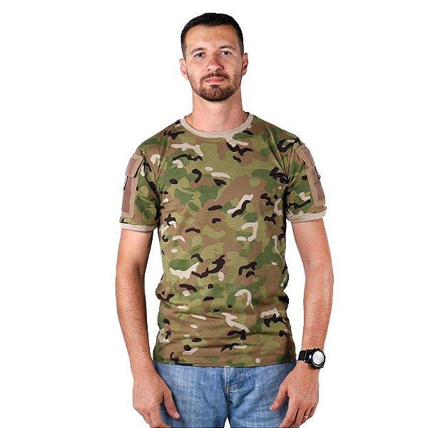 Camiseta Masculina Ranger Bélica Multicam