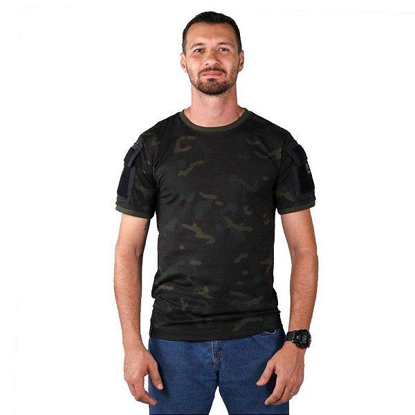 Camiseta Masculina Ranger Bélica Multicam Black