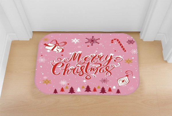 Tapete decorativo Natal Rosa