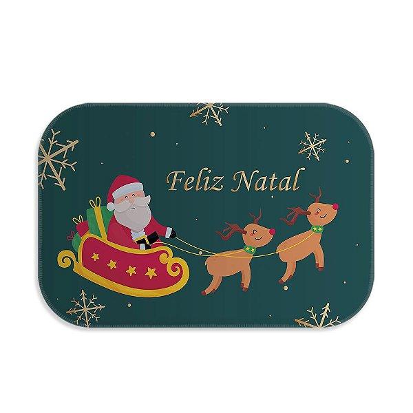 Tapete decorativo Papai Noel com Rena