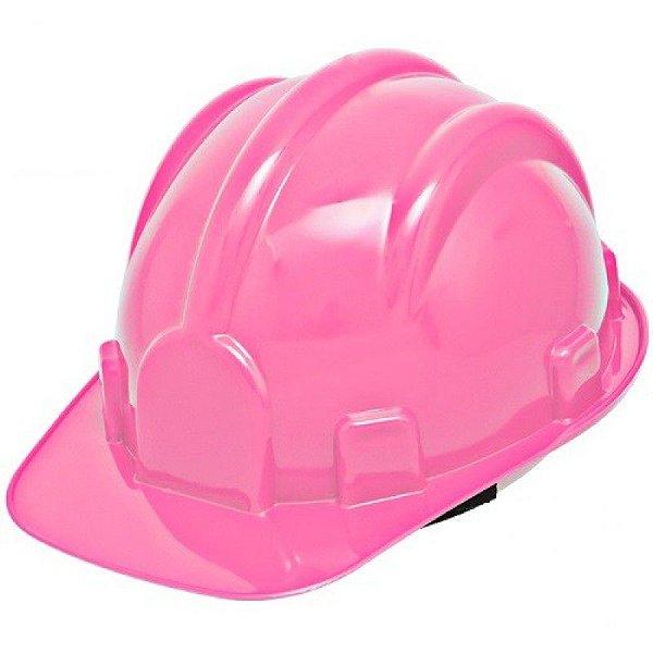 Capacete de Segurança c carneira Plastcor Rosa - Equipamentos de ... d91685cf0a