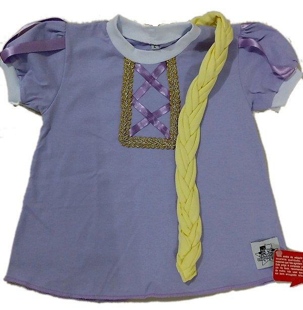 Camiseta com Trança Rapunzel