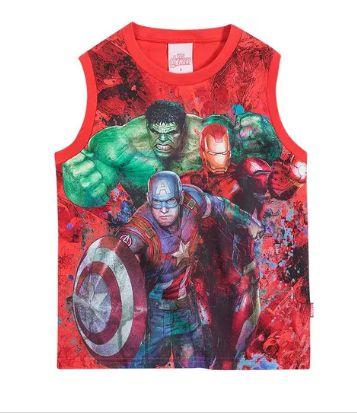 Camiseta Regata Avengers