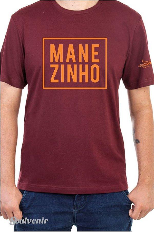 Camiseta Manezinho Masculina Bordô