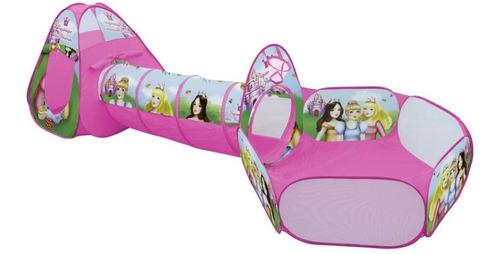 Barraca Toca Infantil 3 Em 1 Princesas Encantada Com Tunel
