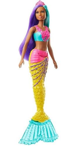 Barbie Dreamtopia Calda De Serie Morena Cabelo Roxo E Azul