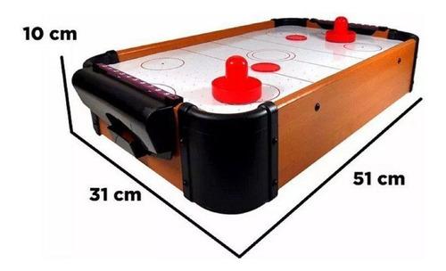 Mini Air Hockey De Mesa Com 2 Rebatedores E 2 Discos