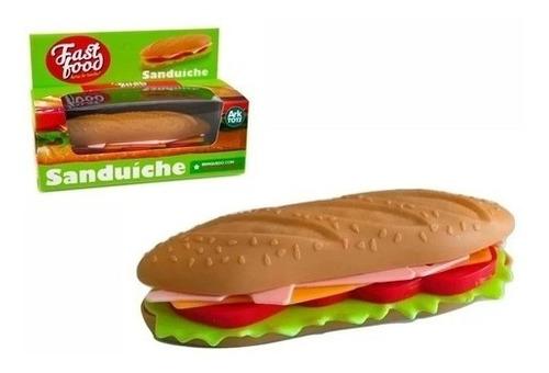 Sanduíche Fast Food Hora Do Lanche Infantil 15 Cm 6 Peças