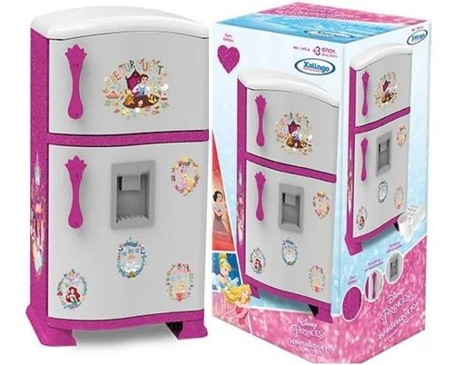 Geladeira Com Freezer Refrigerador Infantil Princesas Disney