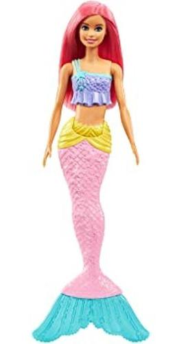 Boneca Barbie Sereia Dreamtopia Cabelo Rosa Calda Com Brilho