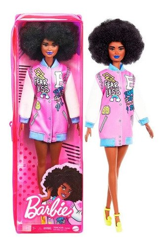 Boneca Barbie Fashionistas Negra Cabelo Afro#156 Edição 2021