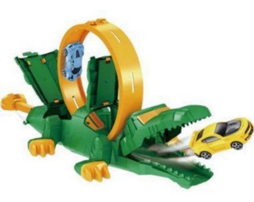 Pista Radical Com Lançador De Carrinhos Looping De Crocodilo